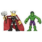 Playskool Heroes - 6cm Hulk and Thor Figures