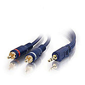 Cables to Go Velocity 3.5 mm Stereo Male to Dual RCA Male Y-Cable 3 m