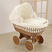 Leipold Wendy Wicker Hood Crib in Cream