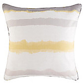 Ombre Stripe Print Cushion 43 x 43cm, Ochre