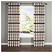 "Judy Stripe Eyelet Curtains W117xL137cm (46x54""), Natural"