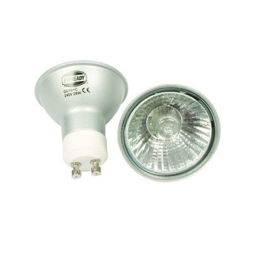 Energy Saving GU10 28W 240V Halogen Bulb Twin Pack