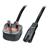 Lindy Mains Power Lead (Fig. 8), UK 3 Pin Plug (Black), 2m