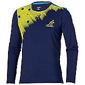 Asics Australia Wallabies RWC 2015 L/S Top - Navy