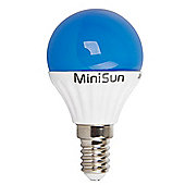 MiniSun E14 4W LED Golfball Bulb in Blue