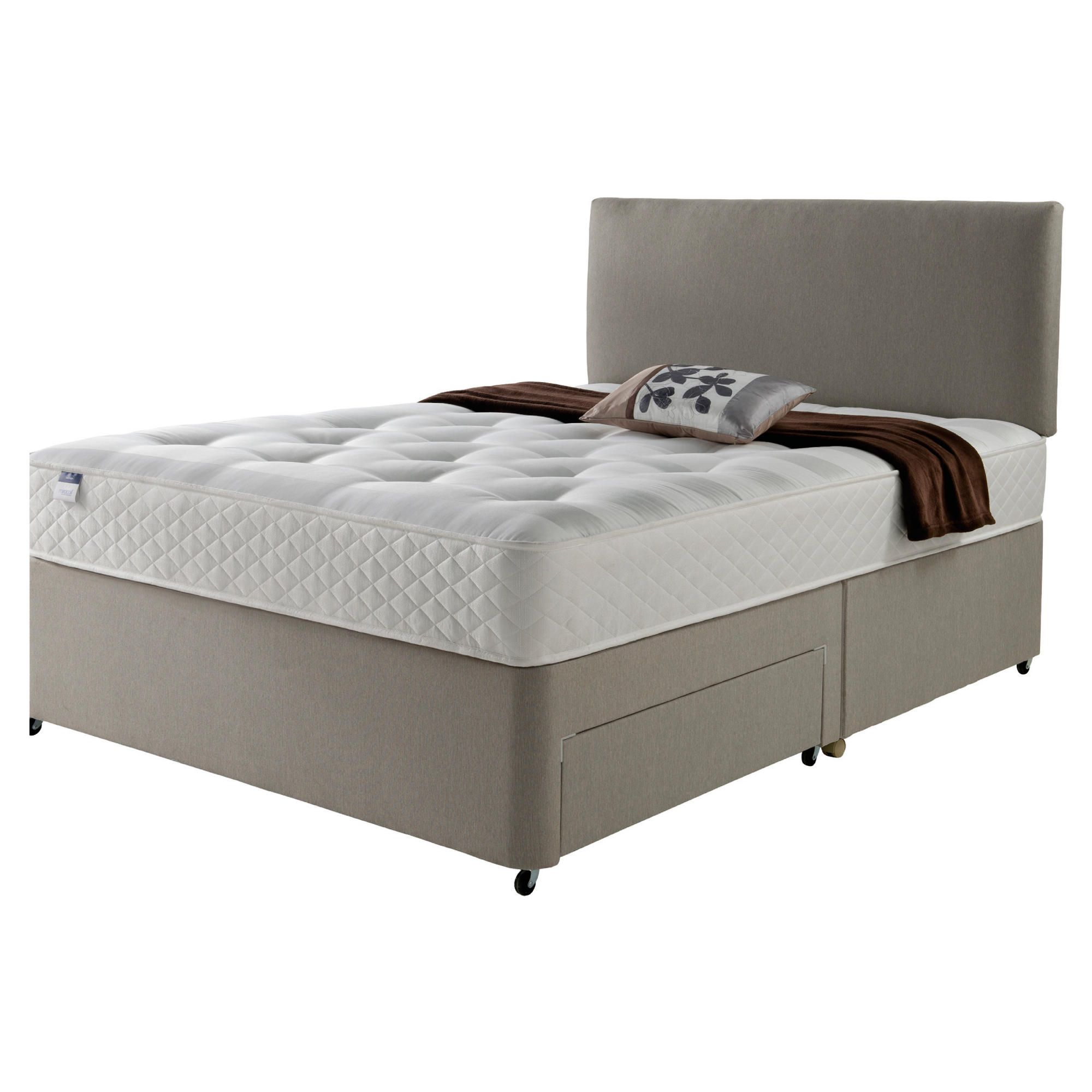 Silentnight Miracoil Luxury Ortho Tuft Non Storage Double Divan Mink with Headboard at Tesco Direct