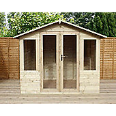 8ft x 6ft Pressure Treated Tongue and Groove Summerhouse 8 x 6 Wooden Summerhouse 8x6
