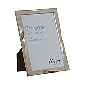 Linea Chrome Plated Twist Design Photo Frame 5X7 In Chrome