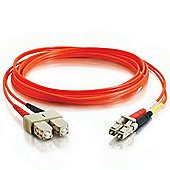 Cables to Go LC-ST 62.5/125 OM1 Duplex Multimode PVC Fibre Optic Cable - Orange