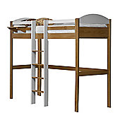 Maximus High Sleeper Central Ladder Antique With White Details
