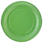 TESCO BRIGHT GREEN PAPER PLATE 24CM 8 PACK