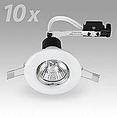 Pack of 10 MiniSun Recessed GU10 Downlights in White