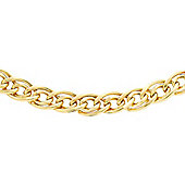 9ct Yellow Gold Double Curb Chain 46cm/18""