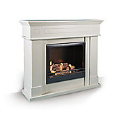 RGE Wall Mounted Ethanol Fireplace - White