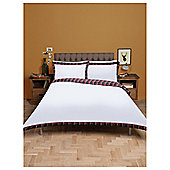 Tesco Tartan Oxford Edge Duvet Set, Double