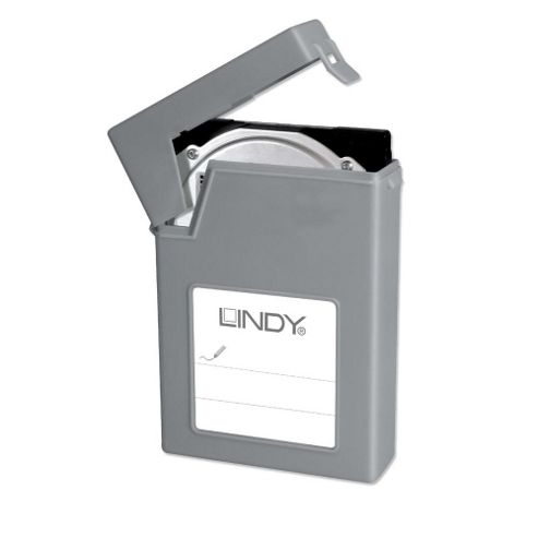 Lindy 3.5 Inch HDD Storage Case Grey
