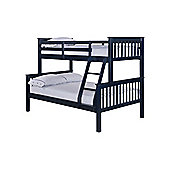 Home Zone Otto Trio Bunk Bed - Solid Navy Blue