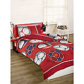 Rapport Kidz Soccer Single Quilt Set Red