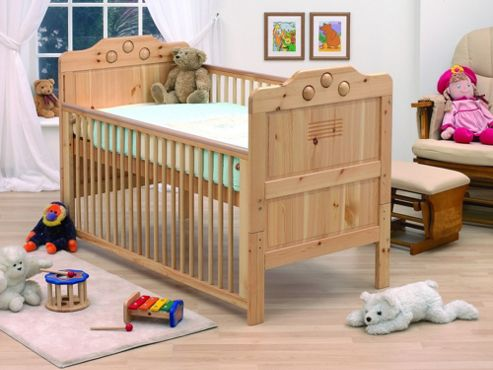 Tutti Bambini Filip Playbead Dropside Cot Bed in Natural