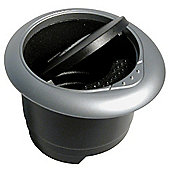 Ashtray black/grey round CP