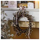 Gold Acorn Christmas Wreath, 46cm