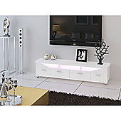32 to 60 Inch MDF TV Stand With Multicolour LED Lights - White