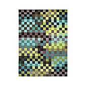 Esprit Pixel Green Contemporary Rug - 90cm x 160cm