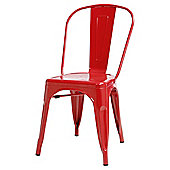 Marseille Metal Dining Chair Red