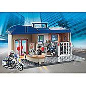 Playmobil 5299 City Action Take Along Police Station Playset with Policeman, Policewoman and Prisoner