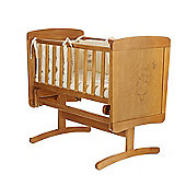 Obaby B is for Bear Gliding Crib & Mattress - Country Pine