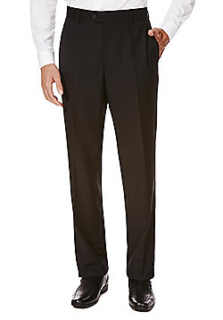 F&F Black Tailored Fit Suit Trousers - Black