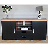 Grove 2 Door 2 Drawer Sideboard TV Cabinet Black (1pf Large 1 PF48)