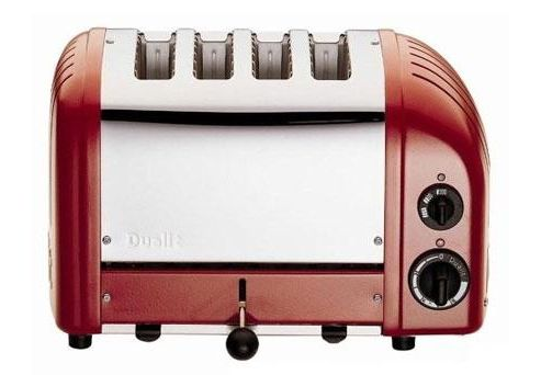 Red Vario toaster, 4 slice