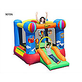 Hot Air Balloon Slide and Hoop Bouncy Castle