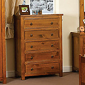 Sweet Dreams Curlew 5 Drawer Chest - Wild Cherry