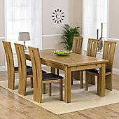 Mark Harris Furniture Rustique Classical Solid Oak Dining Table with Arizona Dining Chairs
