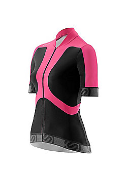 Skins Womens Compression Cycle Jersey - Black & Pink