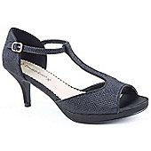 Emilio Luca X Ladies Tap Dance Black Heeled Sandals - Black