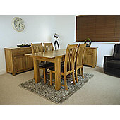 Solid Oakland Oak Extending Dining Table and x4 Oak Chairs