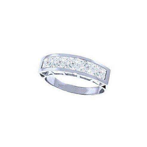 QP Jewellers 2.25ct White Topaz Prestige Ring in 14K White Gold - Size A