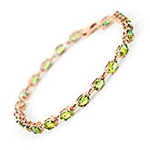 QP Jewellers 6.5in 5.50ct Peridot Infinite Tennis Bracelet in 14K Rose Gold