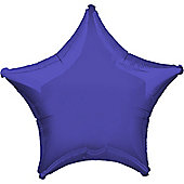 Purple Star Balloon - 32' Metallic Foil (each)