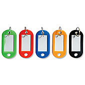 Helix Key Hangers Write-on Assorted Colours Ref W21070 [Pack 20]