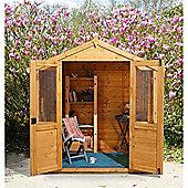 7ft x 5ft Barleywood Summerhouse - 7 x 5 Assembled Garden Wooden Summerhouse 7x5