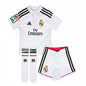 2014-15 Real Madrid Adidas Home Mini Kit - White