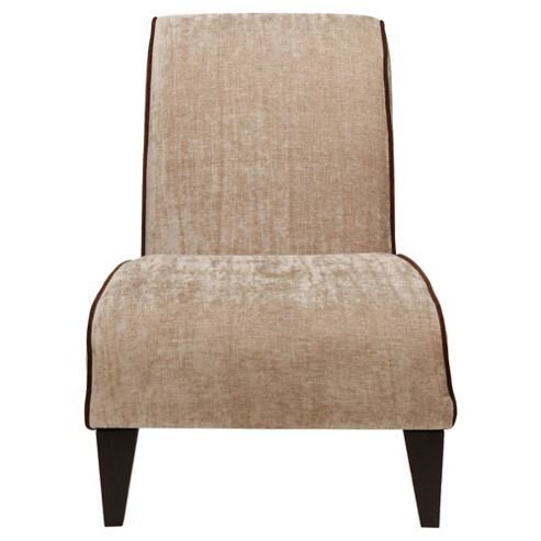 Jules Fabric Accent Chair Brown and Mink