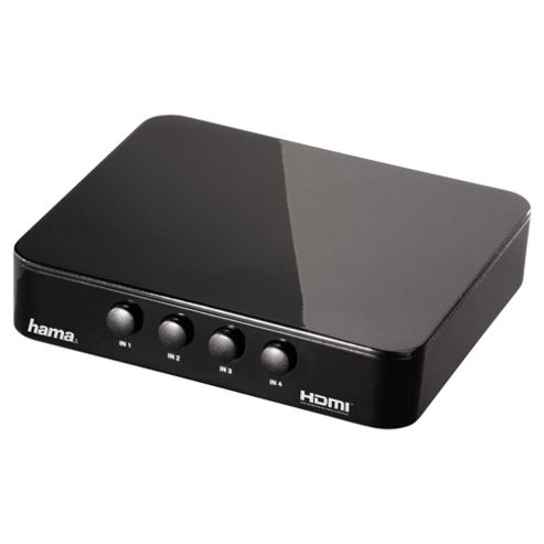 Hama G-410 4x1 HDMI Switcher Console for HDTV Supports 1080p