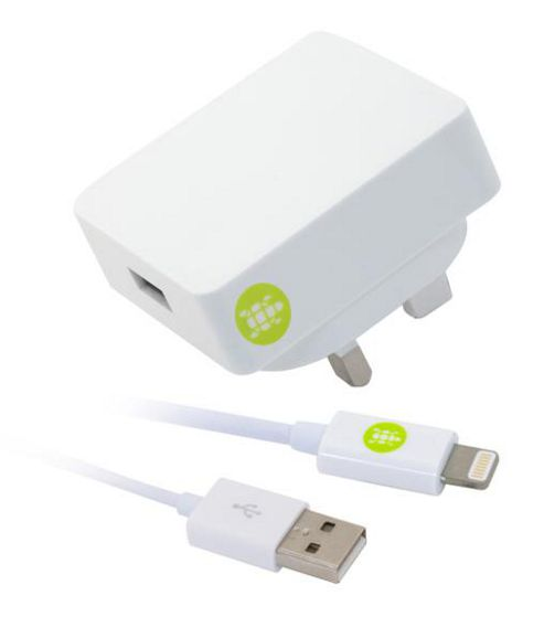 Tortoise™ Look Lightning Mains Charger iPhone 5 White