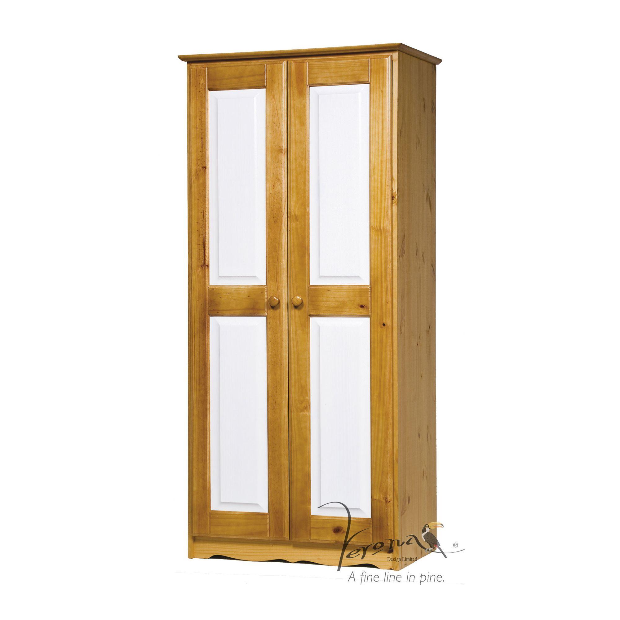 Verona 2 Door Wardrobe - White at Tesco Direct