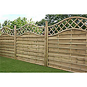6FT Pressure Treated Wavey Horizontal Weave Fencing Panels - 1 Panel Only 6'